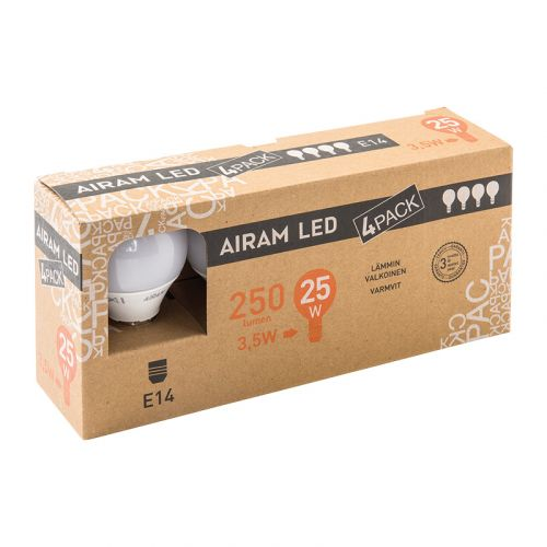 AIRAM LED  3,5W  250 LM. 4-PACK