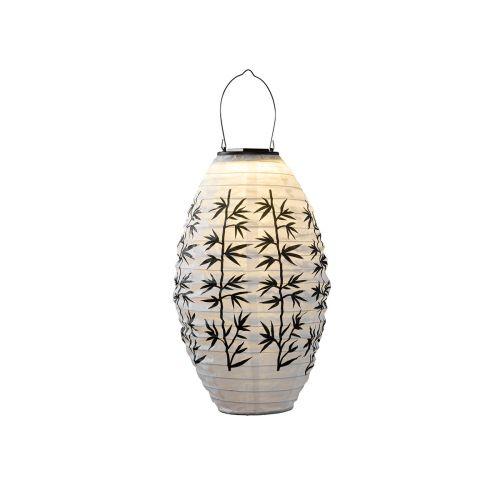 Airam Eriko Solar lyhty valk+musta bambulehtikuvio 30cm