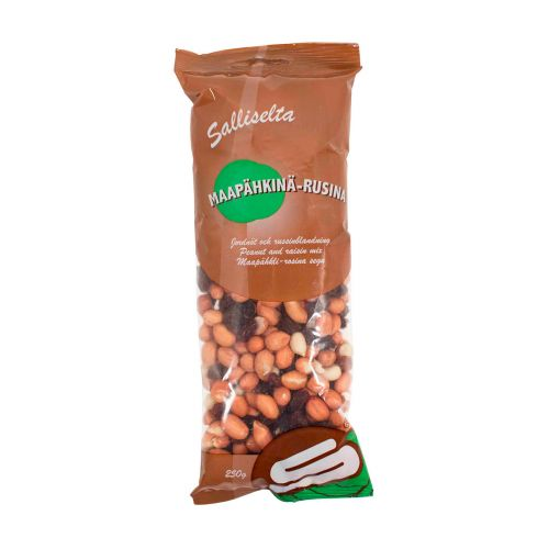 Sallinen maapähkinä-rusinasekoitus 250g