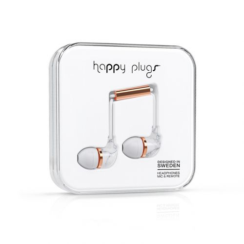 HAPPY PLUGS IN-EAR NAPPIKUULOKKEET WHITE CARRARA MARBLE