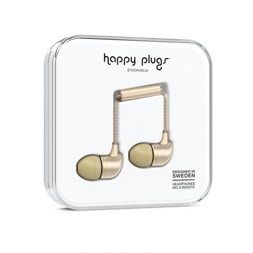 HAPPY PLUGS IN-EAR NAPPIKUULOKKEET CHAMPAGNE