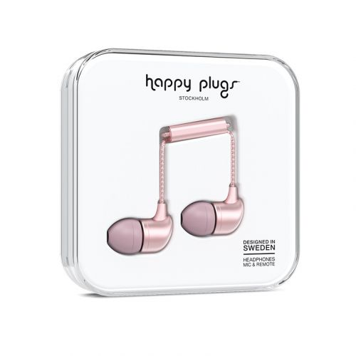 HAPPY PLUGS IN-EAR NAPPIKUULOKKEET PINK GOLD