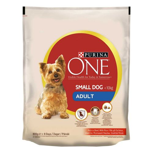 PURINA ONE SMALL DOG ADULT NAUTA-RIISI 800 G