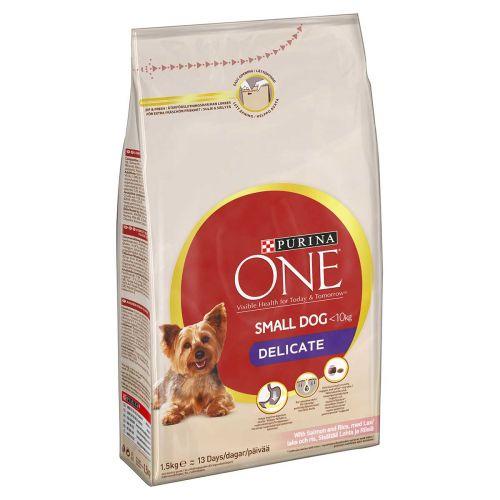 PURINA ONE SMALL DOG DELICATE LOHI-RIISI 1,5 KG