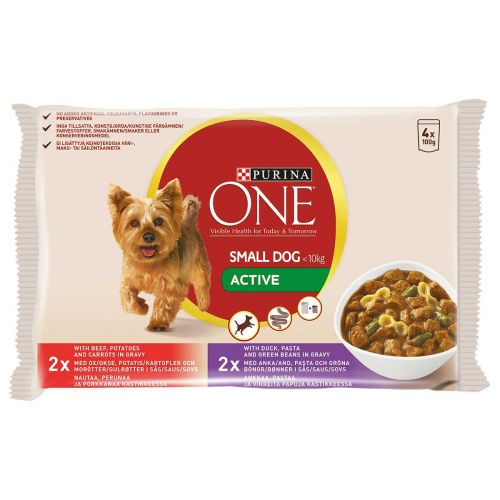 PURINA ONE SMALL DOG ACTIVE ANNOSP 100G 4-PACK 400 G