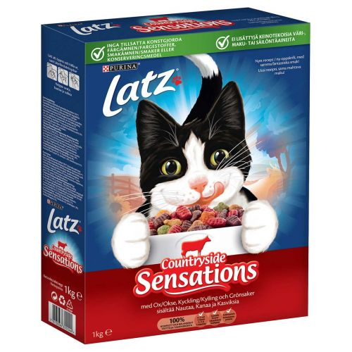 PURINA LATZ COUNTRYSIDE SENSATIONS KISSAN KUIVARUOKA 1KG