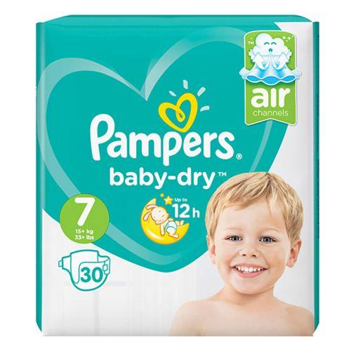 Pampers Baby Dry vaippa S7 15+kg 30kpl