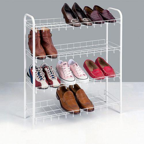 4-tasoinen kenkäteline 12 parille 64x23x80cm