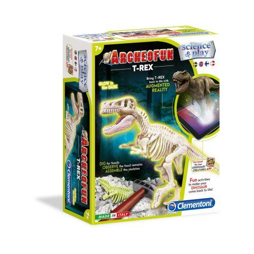 Clementoni Archeofun pimeässä loistava T-Rex