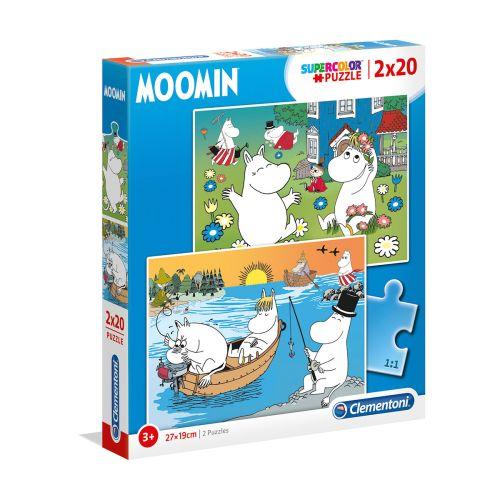 Clementoni 2 x 20 palaa Moomin palapeli