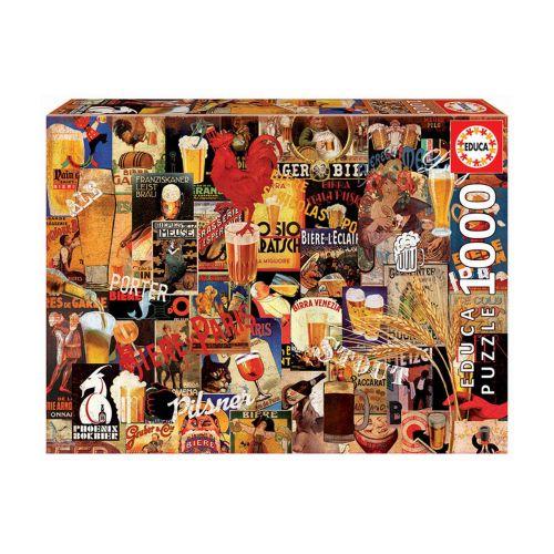 Educa 1000 palaa Vintage Beer Collage