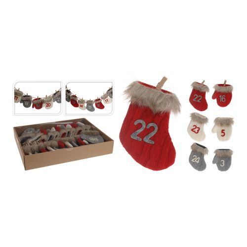 Joulukalenteri joulusukat /käsineet