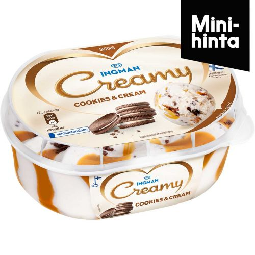 INGMAN CREAMY COOKIES & CREAM VÄHÄLAKT 850 ML