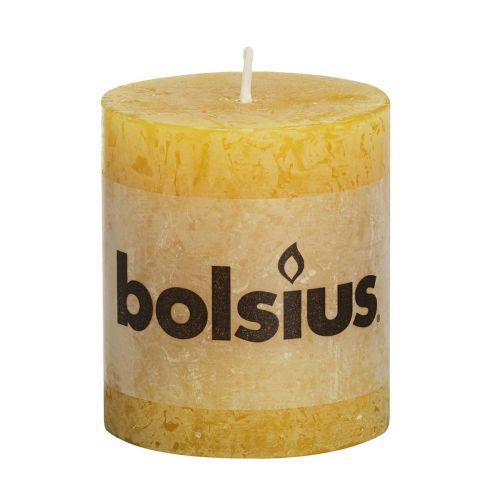 BOLSIUS RUSTIIKKIKYNTTILÄ 80/68 OKRAN KELTAINEN