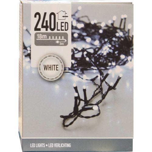 LED 240 valosarja kirkas/musta johto, sisä- ja ulkokäyttöön