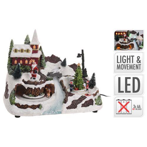 Led joulumaisema liikkeellä ja valolla 310x195x200mm