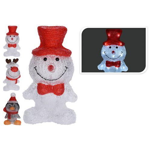 Led lumiukko toimii paristoilla