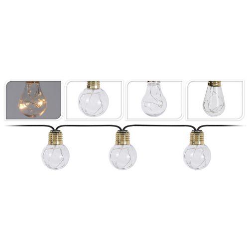 Led 10 lamppusarja toimii paristoilla
