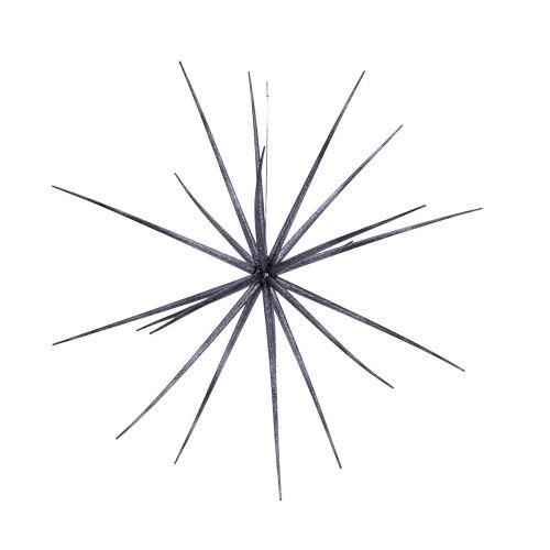 Tähti glitterillä roikkuva halk. 17cm