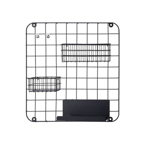 Seinäkehikko musta metallia 45x45cm