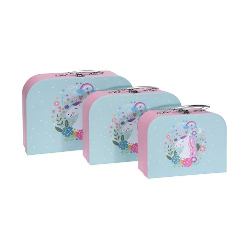 Lasten matkalaukku yksisarvinen keskikoko