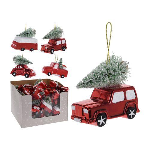 Joulukuusenkoriste Auto ja kuusi