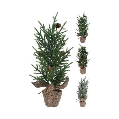 Joulukuusi juuttisäkissä 17x25cm