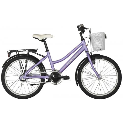 Tunturi 20-tuumainen Candy Girl lasten polkupyörä 3-V, lila