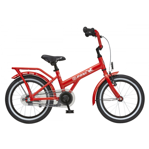 Tunturi 16-tuumainen Poni lasten polkupyörä 1-V, punainen
