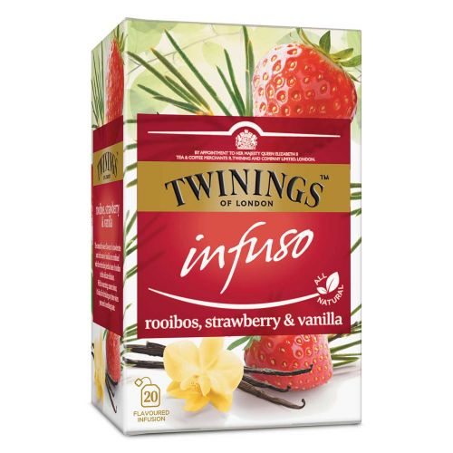 TWININGS  INFUSO ROOIBOS STRAWBERRY VANILLA 20PS 40 G