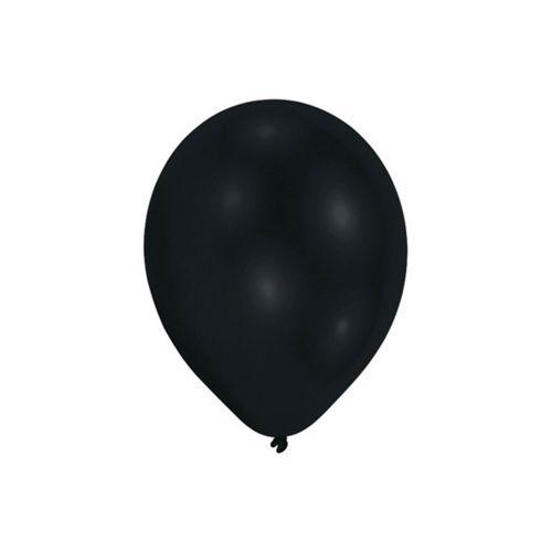 Ilmapallot 28cm musta 10 kpl/pss ilma/heliumtäyttö