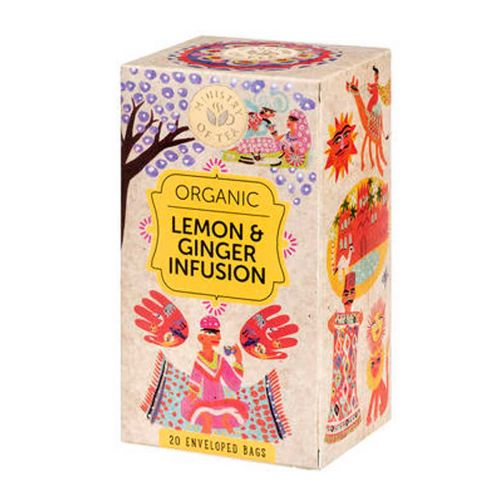 MINISTRY OF TEA ORGANIC LEMON & GINGER INFUSION 20PS 20 KPL