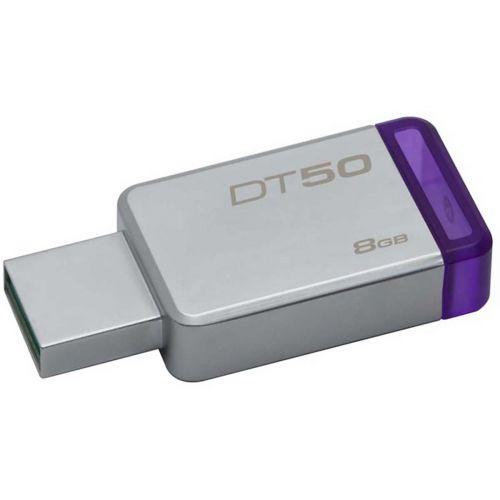 KINGSTON USB3.0 MUISTITIKKU  8GB DATATR50 MATAL/PURPLE