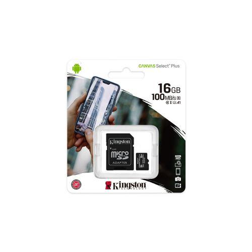 KINGSTON MUISTIKORTTI 16GB MICRO-SDXC CANVAS SELECT PLUS 100R