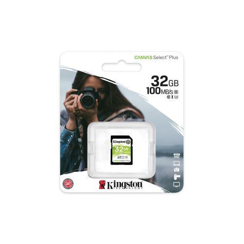 KINGSTON MUISTIKORTTI 32GB SDHC CANVAS SELECT PLUS 100R C10 UHS