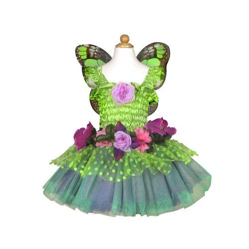 Kukkakeijun asu  Deluxe vihreä 5-6v