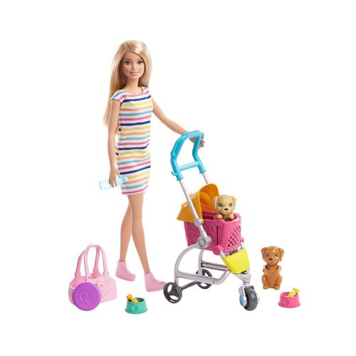 BARBIE STROLL'N PLAY PUPS PENTURATTAAT JA NUKKE GHV92