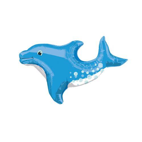 Muotofoliopallo suloinen delfiini sininen