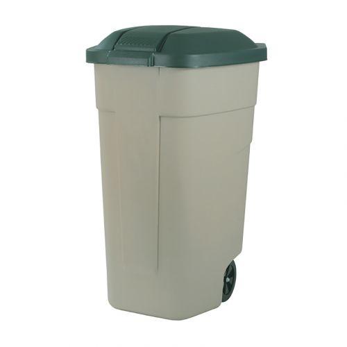 Curver jäteastia pyörillä 110L, beige/vihreä