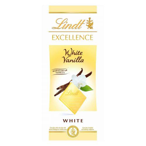 LINDT EXCELLENCE SUKLAALEVY WHITE VANILLA 100 G