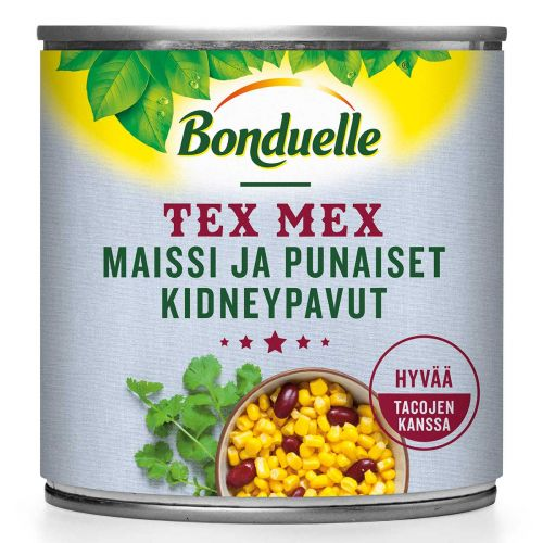 BONDUELLE TEX MEX MAISSI JA PUNAISET KIDNEYPAVUT 140 G