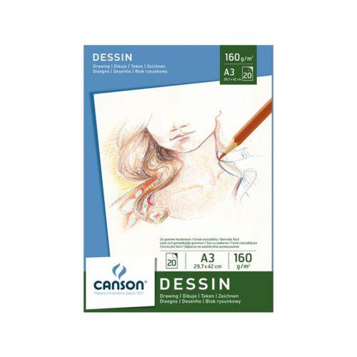 CANSON PIIRUSTUSLEHTIÖ 160G A3 (20)