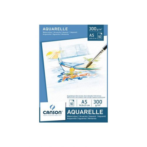CANSON AKVARELLILEHTIÖ 300G A5 (10)