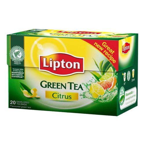 LIPTON CLEAR GREEN TEA SITRUS 20PS 26 G