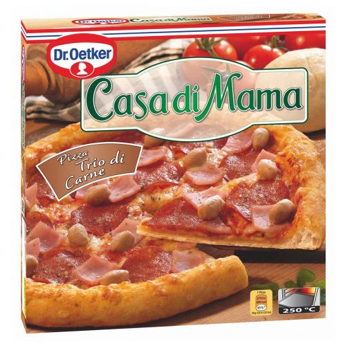 DR. OETKER CASA DI MAMA PIZZA TRIO DI CARNE 395 G