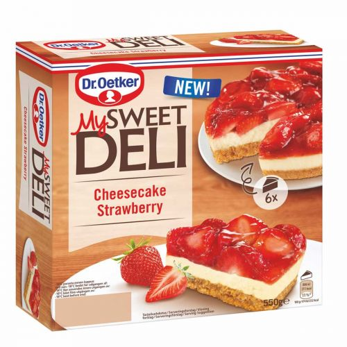 DR. OETKER MY SWEET DELI CHEESECAKE STRAWBERRY 550 G