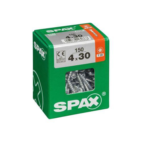 SPAX RUUVI TORX UPPOKANTA, OSAKIERRE WIROX 4X30 L 150KPL