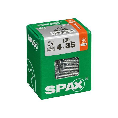 SPAX RUUVI TORX UPPOKANTA, OSAKIERRE WIROX 4X35 L 150KPL