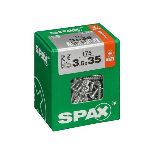 SPAX RUUVI TORX UPPOKANTA, OSAKIERRE WIROX 3,5X35 L 175KPL