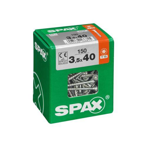 SPAX RUUVI TORX UPPOKANTA, OSAKIERRE WIROX 3,5X40 L 150KPL